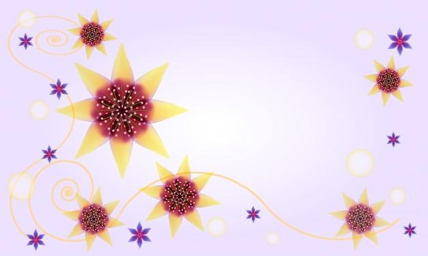 Abstrakcjonistyczny kwiecisty tło z gwiazdowymi kwiatami