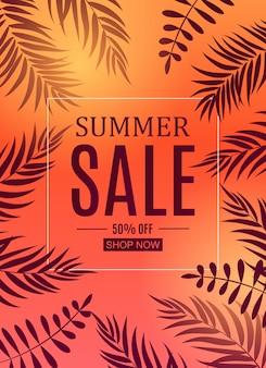 Abstrakcjonistyczny lato sprzedaży sztandar