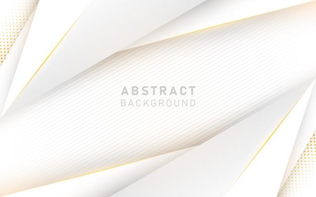 Abstrakcjonistyczny luksusowy biały i żółty tło.