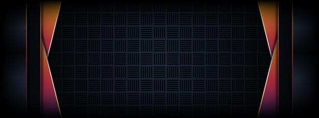 Abstrakcjonistyczny luksusowy ciemny sztandaru tło z tęcz kolorowymi linii kombinacjami