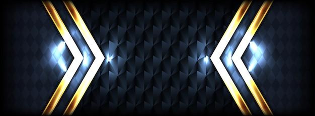Abstrakcjonistyczny luksusowy ciemny tło z kombinaci złota jaśnieniem