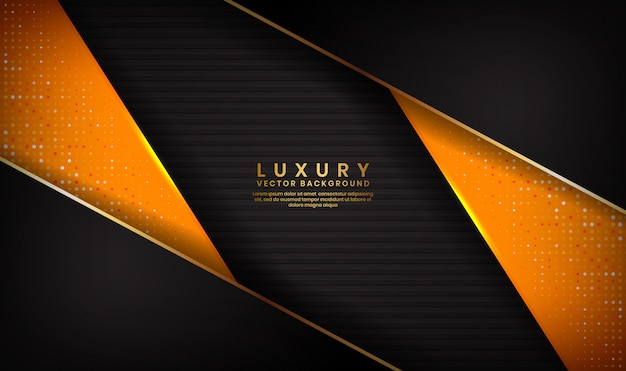 Abstrakcjonistyczny luksusowy czarny i pomarańczowy tło