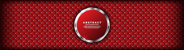 Abstrakcjonistyczny luksusowy nowożytny zmrok - czerwień z srebnym sztandaru tłem