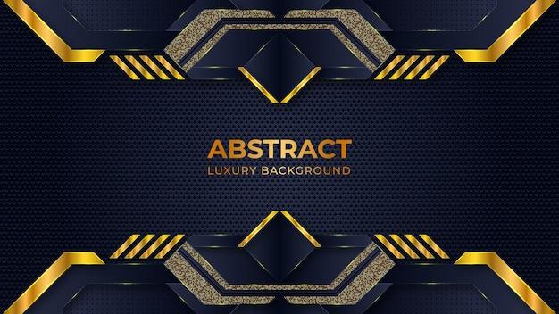 Abstrakcjonistyczny luksusowy tło szablon z geometrycznymi kształtami