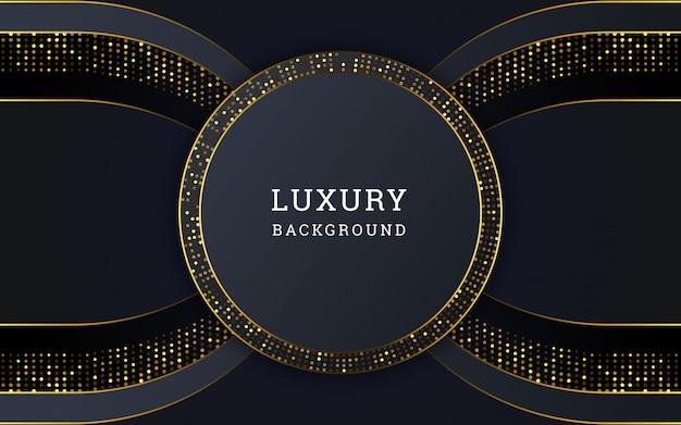 Abstrakcjonistyczny luksusowy tło z złotą błyskotliwością