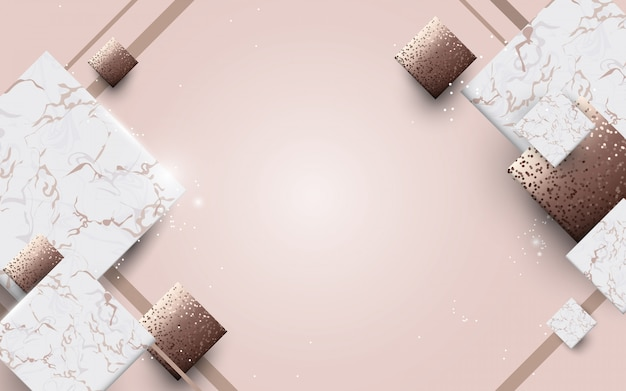 Abstrakcjonistyczny luksusu marmur z złotym tekstury tłem