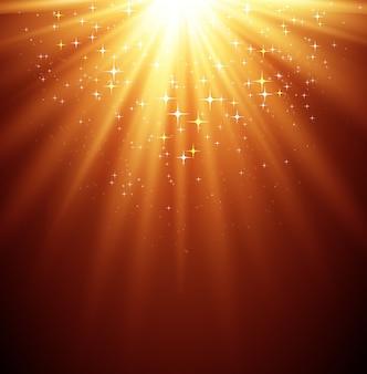 Abstrakcjonistyczny magii światła backgroud z gwiazdą