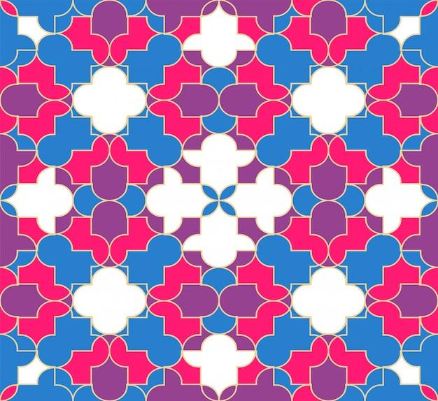 Abstrakcjonistyczny muzułmański bezszwowy deseniowy tło.