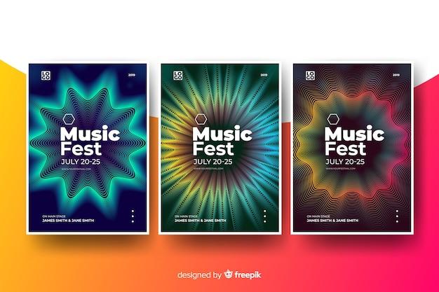 Abstrakcjonistyczny muzyczny plakatowy szablon