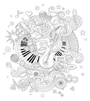 Abstrakcjonistyczny muzyczny tło