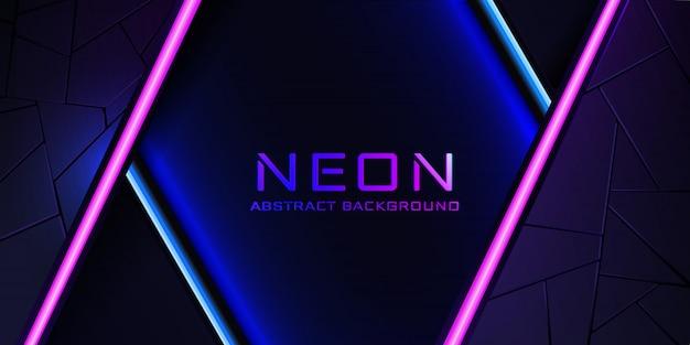 Abstrakcjonistyczny neonowy tło z błękitną i różową lekką linią i teksturą.
