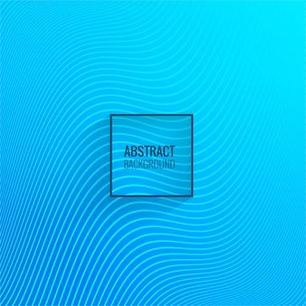 Abstrakcjonistyczny niebieskiej linii fala tła wektor