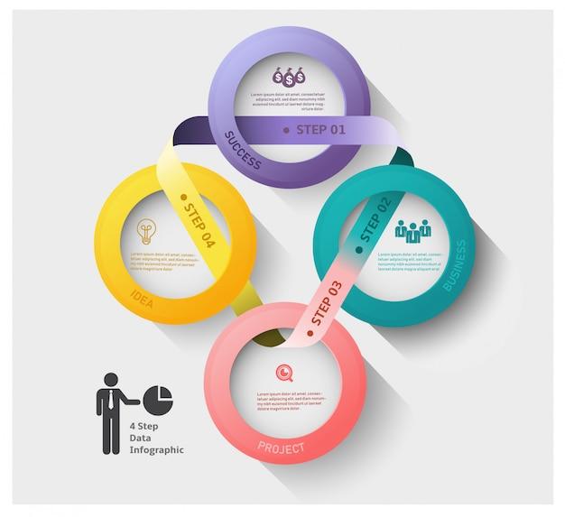 Abstrakcjonistyczny nowożytny biznesowy etykietki pojęcie dla infographic.