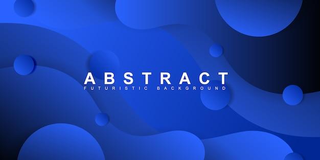 Abstrakcjonistyczny nowożytny błękit krzywy tło