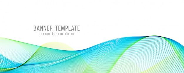 Abstrakcjonistyczny nowożytny elegancki falisty sztandaru szablon
