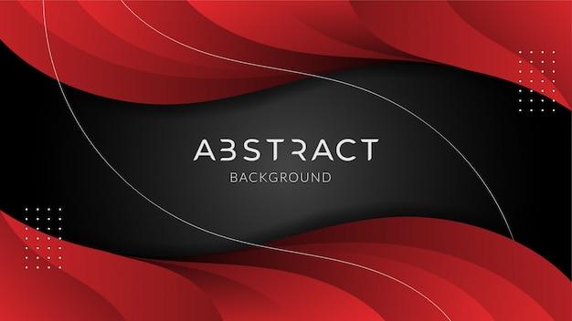 Abstrakcjonistyczny nowożytny futurystyczny technologii tło z czerwonym gradientem