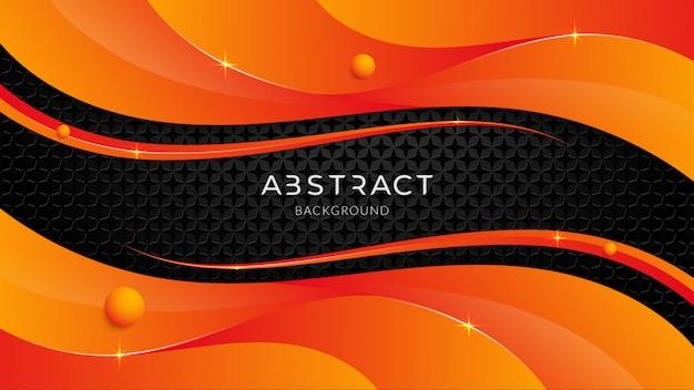 Abstrakcjonistyczny nowożytny futurystyczny technologii tło z pomarańczowym gradientem