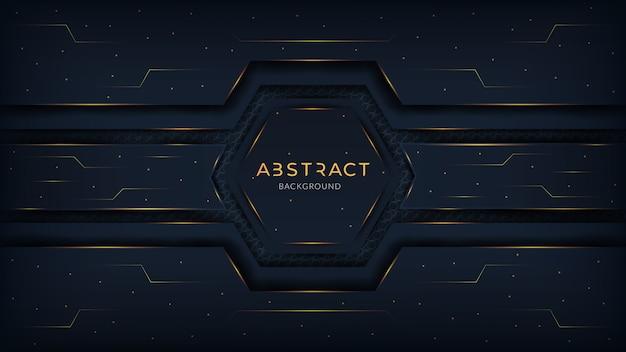 Abstrakcjonistyczny nowożytny futurystyczny technologii tło z złocistym gradientem