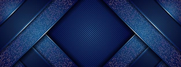 Abstrakcjonistyczny nowożytny królewski zmrok - błękit z nakładającymi się warstw tłem