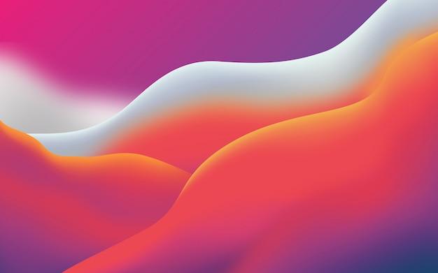Abstrakcjonistyczny nowożytny miękki falisty kształta tło