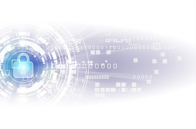 Abstrakcjonistyczny ochrony technologii cyfrowej tło