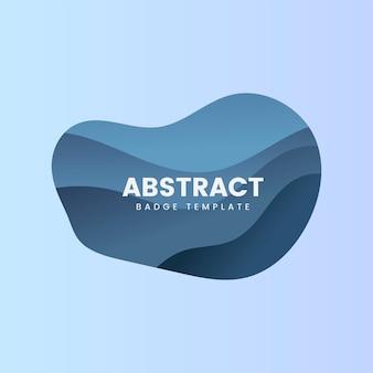 Abstrakcjonistyczny odznaka szablon w błękicie