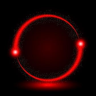 Abstrakcjonistyczny okrąg światła rewolucjonistki ramy wektoru tło