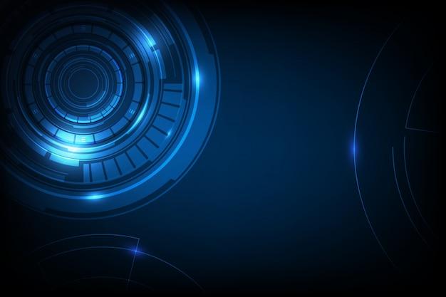 Abstrakcjonistyczny okręgu sci fi futurystyczny technologii innowaci pojęcia tło