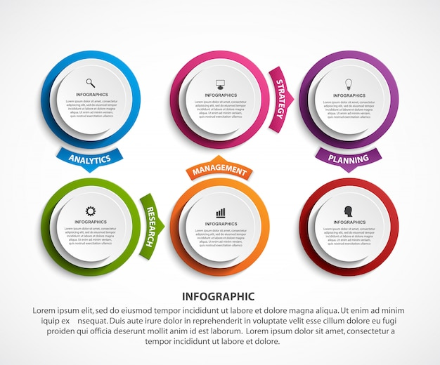 Abstrakcjonistyczny opci infographics szablon.
