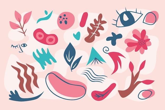 Abstrakcjonistyczny organicznie kształtuje tło w różowych cieniach