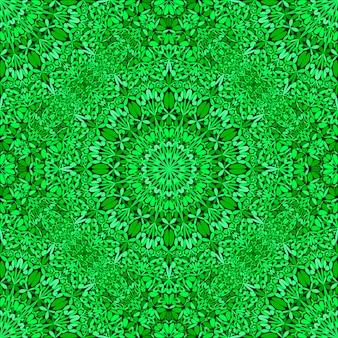 Abstrakcjonistyczny orientalny bezszwowy zielony mandala wzoru tło