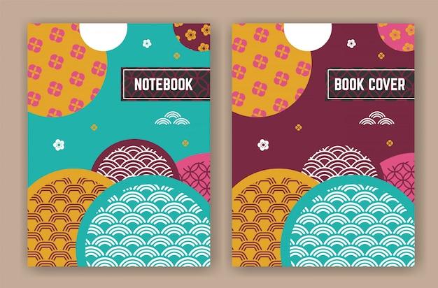 Abstrakcjonistyczny orientalny tło projekt dla książkowej pokrywy