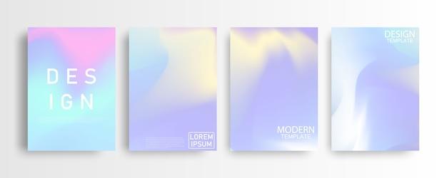 Abstrakcjonistyczny pastelowy kolorowy gradientowy tła a4 pojęcie dla twój graficznego kolorowego projekta, układu projekta szablon dla broszurki