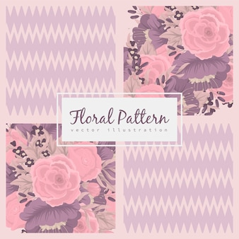 Abstrakcjonistyczny patchwork z kwiatami