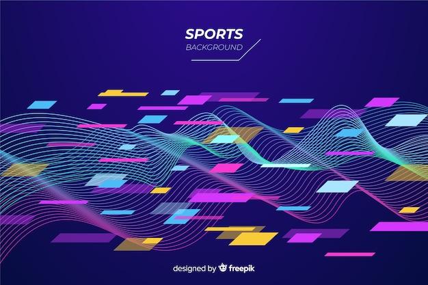 Abstrakcjonistyczny płaski kształta sporta tło