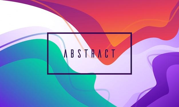 Abstrakcjonistyczny płynny kolorowy gradient kształtuje nowożytnego tło