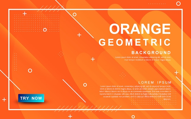 Abstrakcjonistyczny pomarańczowy dynamiczny tło projekt