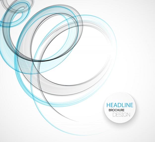 Abstrakcjonistyczny przejrzysty falowy szablonu tła broszurki projekt