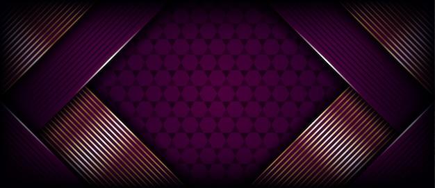 Abstrakcjonistyczny purpurowy sztandaru tło z złotym