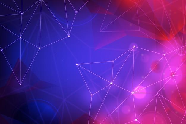 Abstrakcjonistyczny realistyczny technologii cząsteczki tło