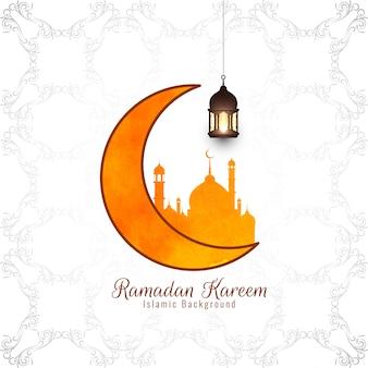 Abstrakcjonistyczny religijny eid mubarak islamski tło