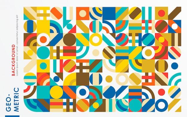 Abstrakcjonistyczny retro geometryczny kształta tło
