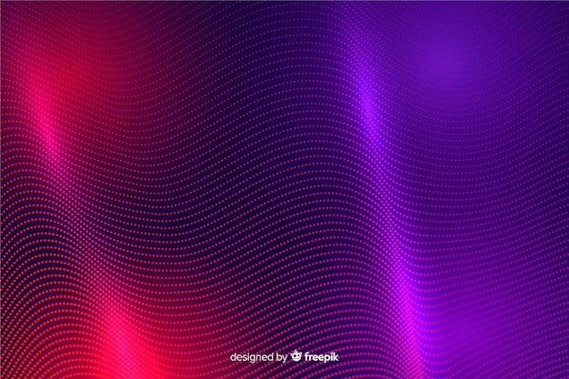 Abstrakcjonistyczny rozjarzony cząsteczka kształtuje tło