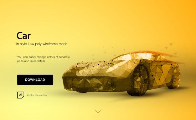 Abstrakcjonistyczny sportowy samochód na pomarańcze