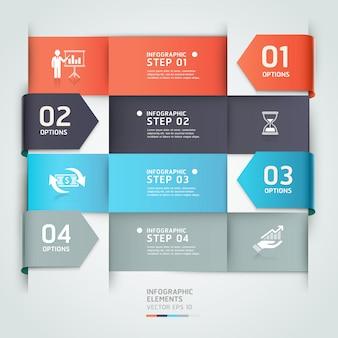 Abstrakcjonistyczny strzałkowaty biznesowy infographics szablon.