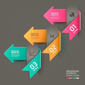 Abstrakcjonistyczny strzałkowaty infographics szablon.