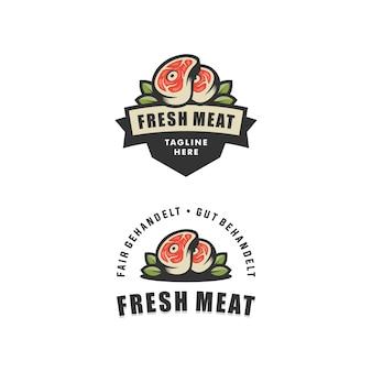 Abstrakcjonistyczny świeżego mięsa ilustracyjny wektorowy projekta szablon