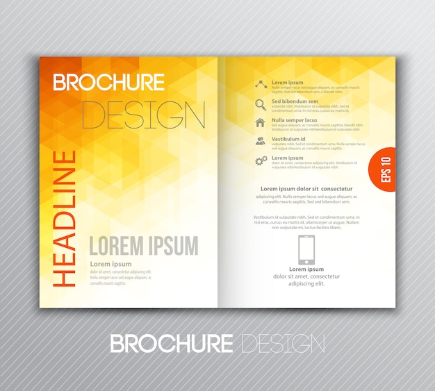 Abstrakcjonistyczny szablon broszurki projekt z geometrycznym tłem