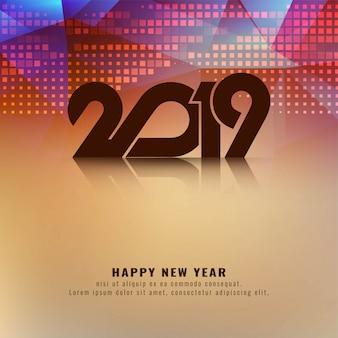 Abstrakcjonistyczny szczęśliwy nowego roku 2019 nowożytny tło