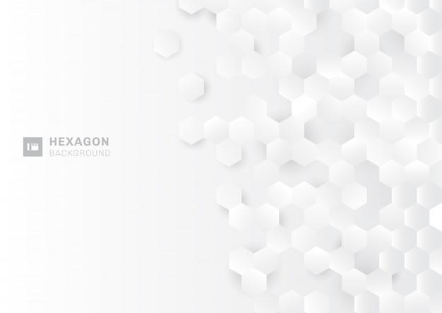Abstrakcjonistyczny sześciokąt kształtuje białego tło